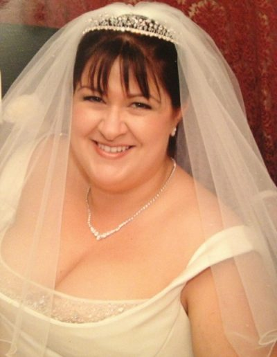 Janet getting married in 2004. Size 24