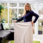 Janet in size 30 skirt